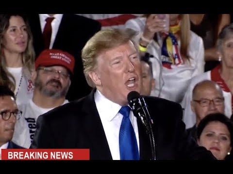 URGENT 🔴 President Trump EXPLOSIVE Speech to Venezuelan American Community at Rally in Florida Mp3