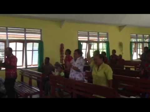 Church worship in Papua