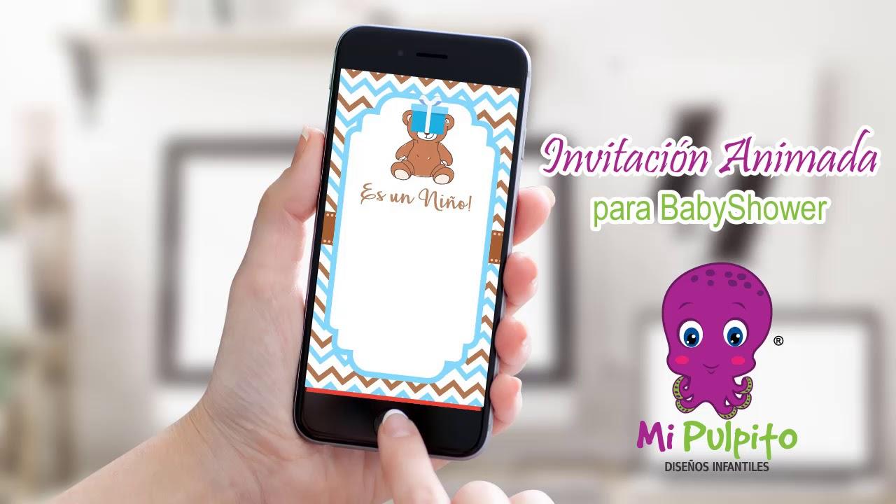 Invitaciones Animadas Para Babyshower Youtube