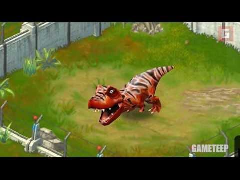 Jurassic Park Builder: Baby T-Rex Tyrannosaurus Roars Gameplay Trailer [HD]