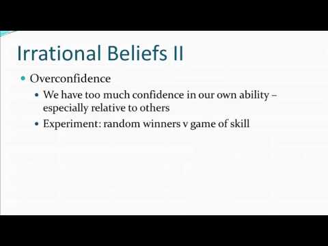 Principles of Microecon 19 Irrational Beliefs