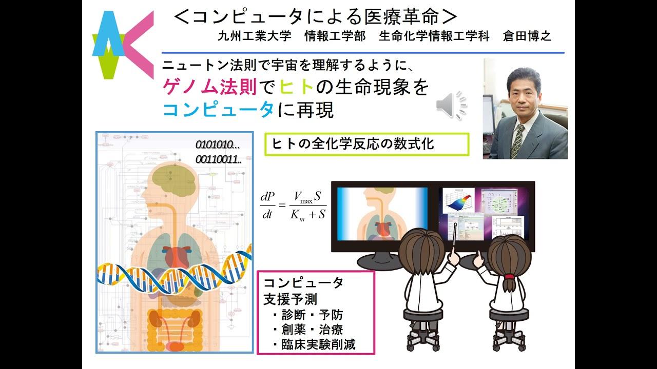 Youtubeコンピュータによる医療革命+バーチャルヒト代謝モデル