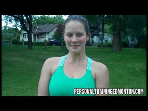 Edmonton Personal Trainer - Calorie Burner Exercises 9 of 10 Plie Squat Tricep Extension