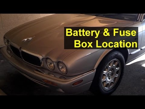 Jaguar battery and fuse box location, battery removal, and battery boosting – Auto Repair Series