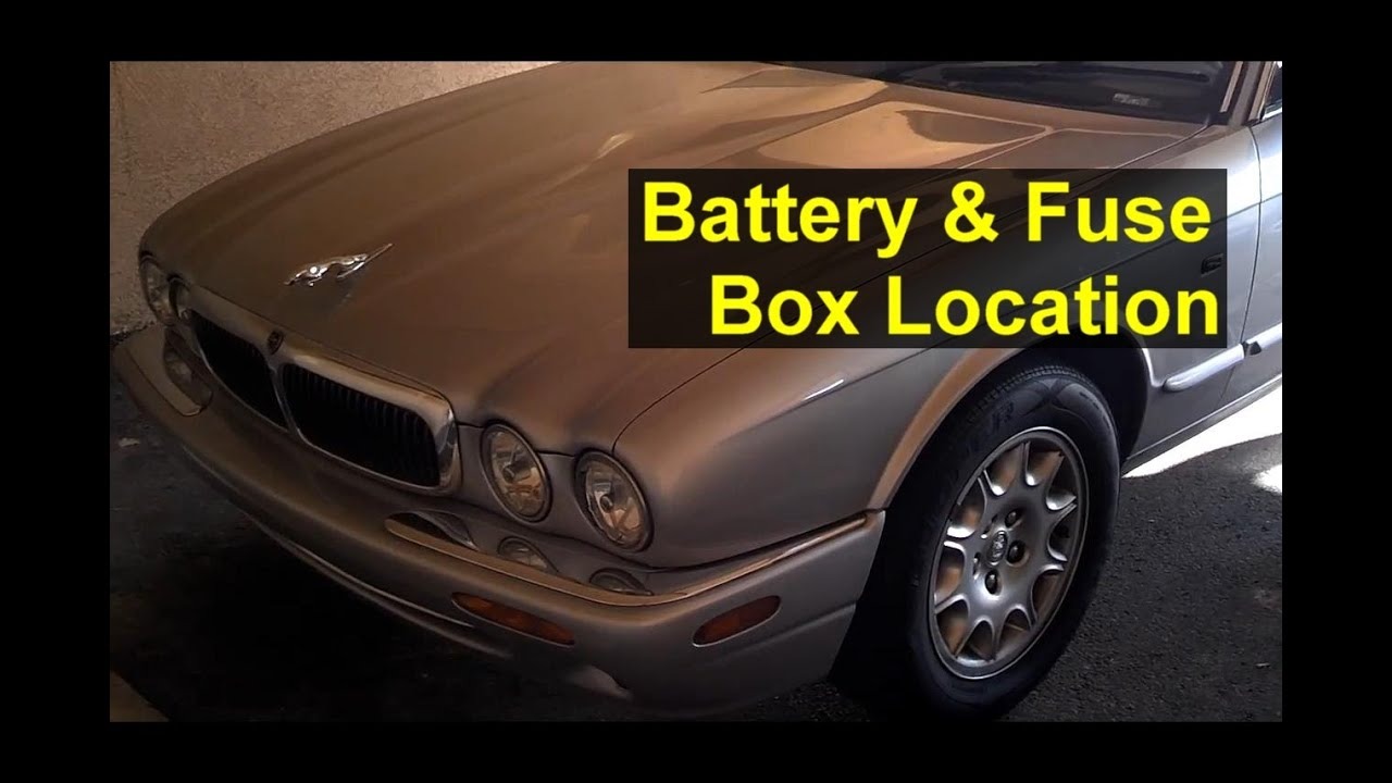 Jaguar battery and fuse box location, battery removal, and
