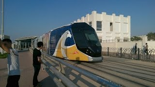 Taking a ride in the Dubai Tram