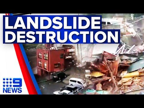 Residents missing after landslide in Japan | 9 News Australia
