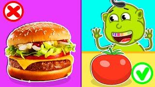 Lion Family 🍔 Pretend Play McDonald's. Rainbow Burger | Cartoon for Kids