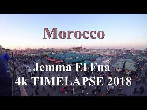 摩洛哥 Marrakesh Jemaa El-Fna 4k Timelapse 延时摄影 2018
