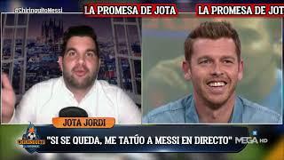 😳 La PROMESA de JOTA JORDI si MESSI se QUEDA en el Barça