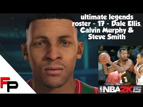 NBA 2K15 - Dale Ellis, Calvin Murphy & Steve Smith - Ultimate Legends Roster Update 17