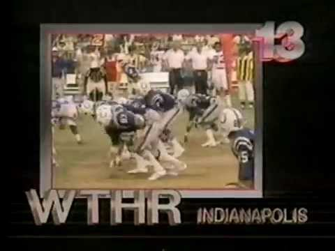 August 1984 - Bumper for Colts-Dolphins Preseason Game