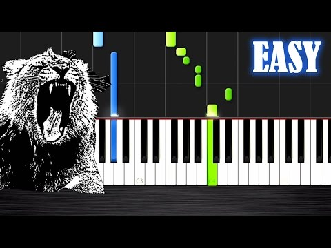 Martin Garrix - Animals - EASY Piano Tutorial by PlutaX - Synthesia