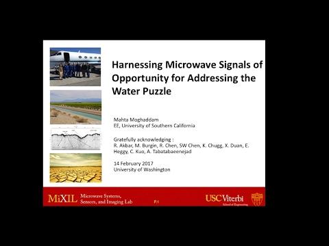 UWEE Research Colloquium: February 14, 2017 - Mahta Moghaddam, University of Southern California