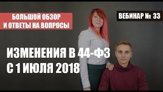 Вебинар: Изменения в 44-ФЗ с 1 июля 2018 года