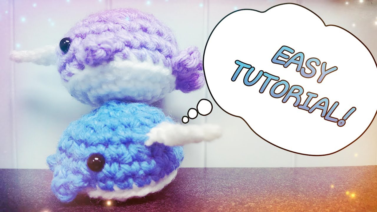 Little Walden the narwhal (or whale!) amigurumi pattern | hookabee | 720x1280