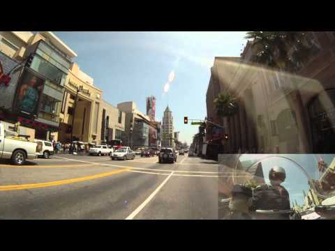 Yamaha R1. Los Angeles Beverly Hills. Motorcycle Vlog