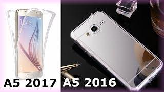 Samsung A5 2017 2016 Силиконовый чехол, Зеркало бампер Samsung A5 2016 (Самсунг А5) Анбоксинг