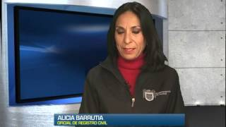 Repeat youtube video Entrevista con Alicia Barrutia, Oficial 01 del Registro Civil en Tijuana