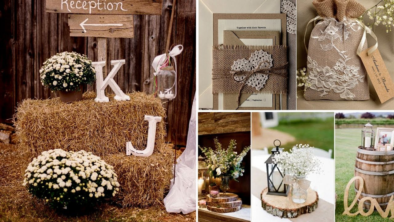 40 Elegant Rustic Or Barn Chic Party Or Wedding Diy Decor Ideas