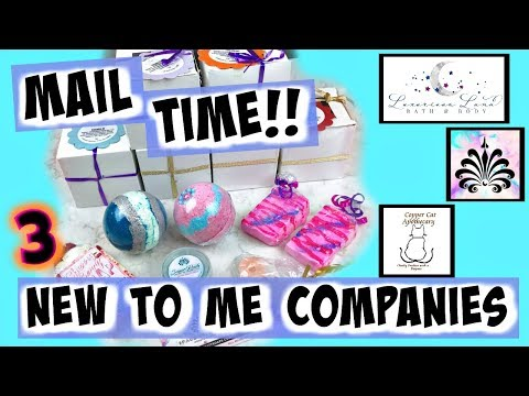 !MAIL TIME! Bath Bomb Haul & Unboxing  *Copper Cat Apothecary *Luxurious Luna *Space City Soaps