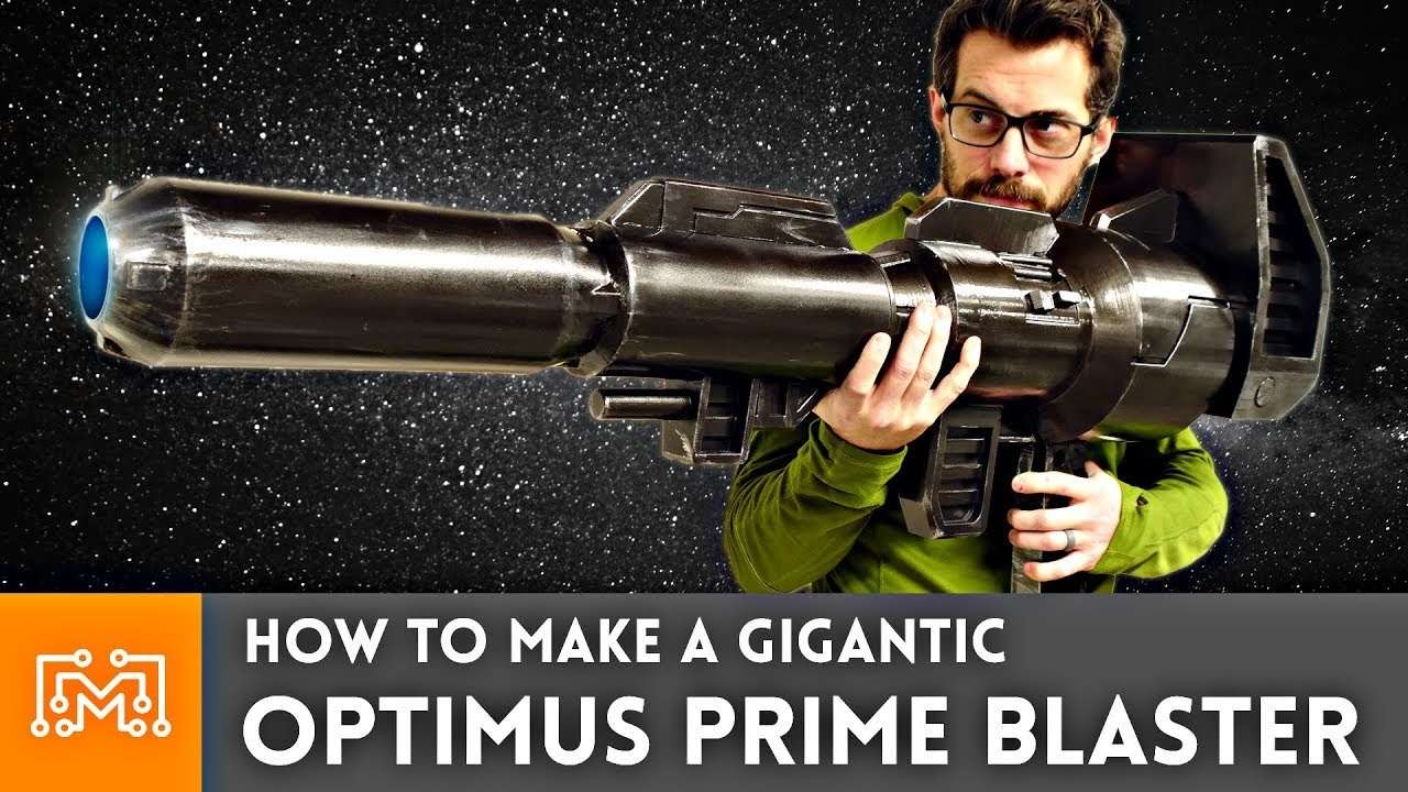 how to make an optimus prime blaster prop youtube