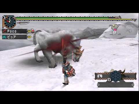 【MHP2G】激突!雪獅子ドドブランゴ【大剣】.mpg - YouTube