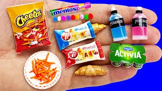 12 DIY MINIATURE FOOD AND DRINKS HACKS AND CRAFTS !!!!