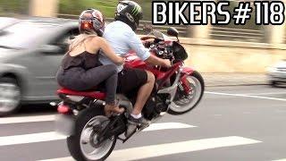 BIKERS #118 - Superbikes on the STREETS! Wheelies Burnouts & LOUD sounds!