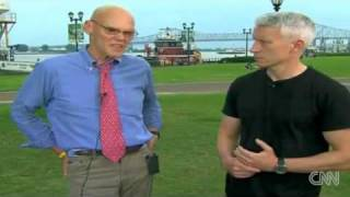 Anderson Cooper With James Carville On The Gulf Oil Spill 5-28-2010