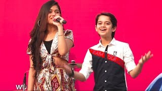 Jannat zubair Live Singing And dancing With Ayaan Zubair Malad Masti Feast Thumb