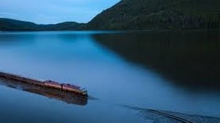 Fast Train Over Water Video Taken a Few Feet Away In the Lake Awesome