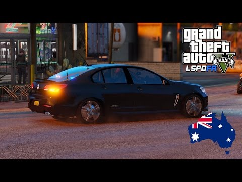 GTA 5 - NSW Police Mod - Unmarked Holden Commodore VF (Play GTA V as a cop mod for PC) #OZGTA