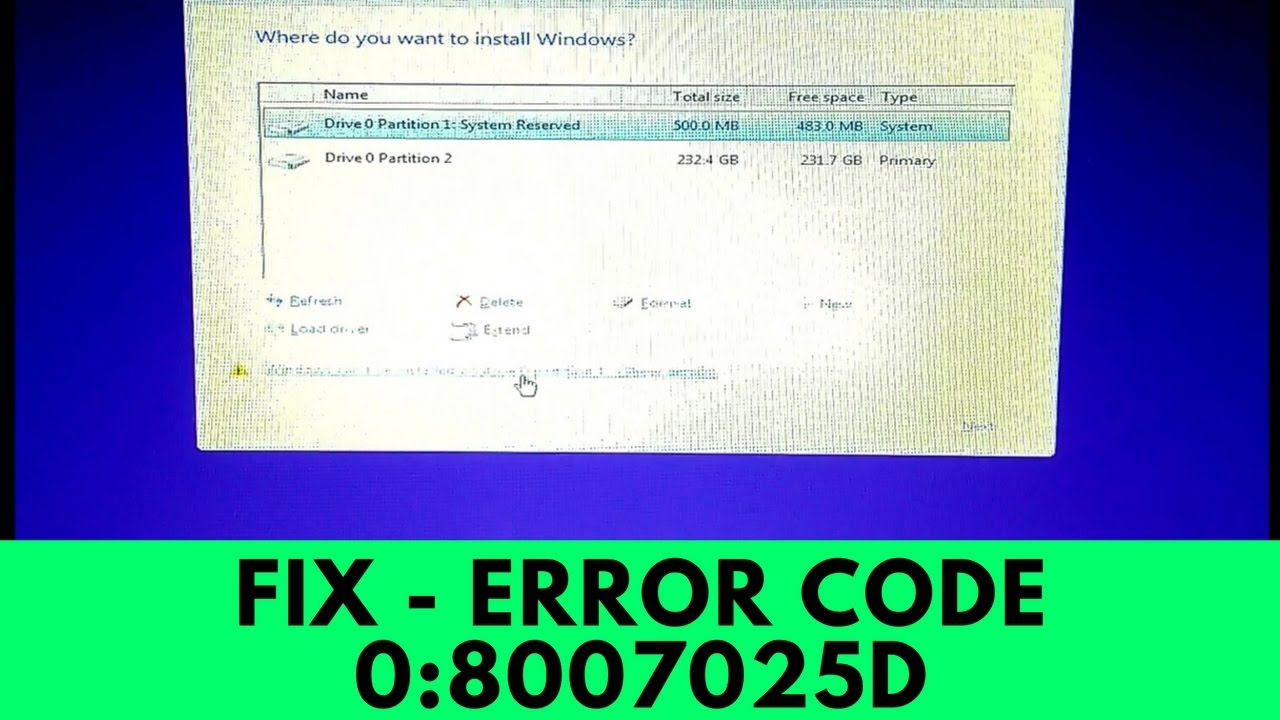 Fix - Windows Cannot be Installed to this Disk / Windows Cannot Install  Required Files 0x8007025D