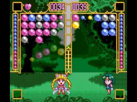 SNES Longplay [294] Bishoujo Senshi Sailor Moon Super S - Fuwafuwa Panic