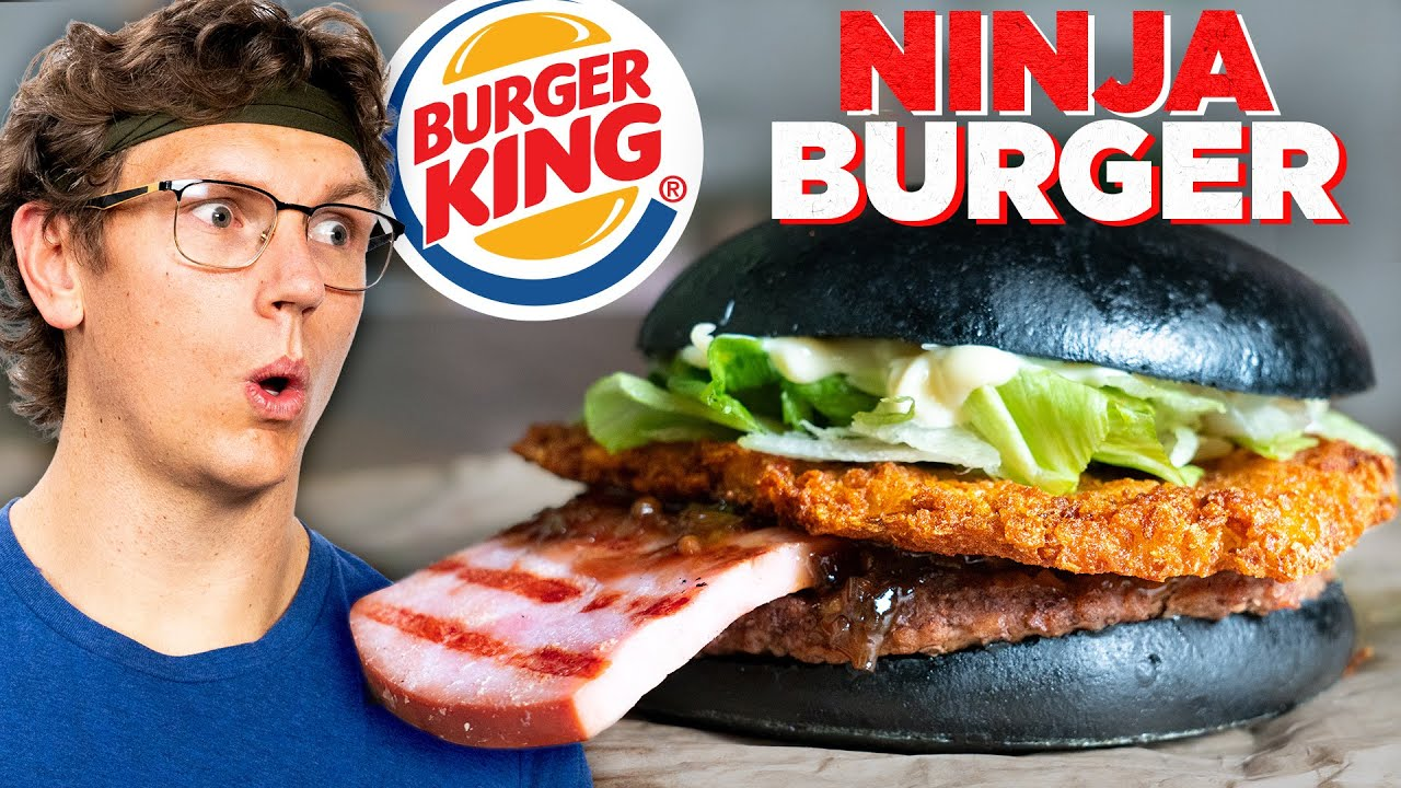 Recreating Burger King's Black Ninja Burger (International Fast Food)