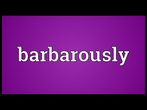 Header of barbarously
