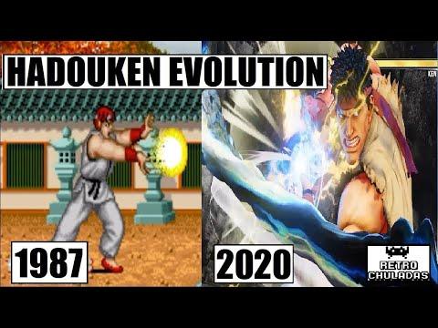 Hadouken Evolution - Ryu Evolution - Street Fighter (1987 - 2018) / Hadouken Y Ryu Evolucion