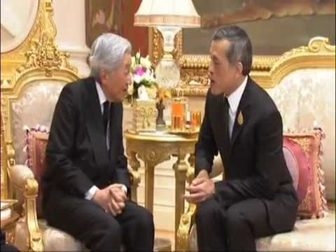 King Rama X receives Japan's Emperor and Empress