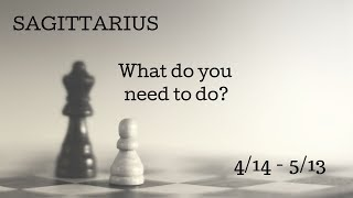 SAGITTARIUS: What do you need to do? 4/14 - 5/13