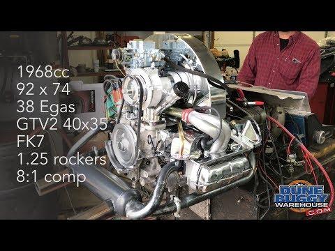 1968cc VW Type 1 Dyno Test - 92mm bore x 74mm stroke - 38 Egas