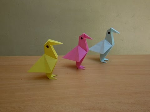 How To Make A Simple Paper Bird Easy Tutorials Youtube