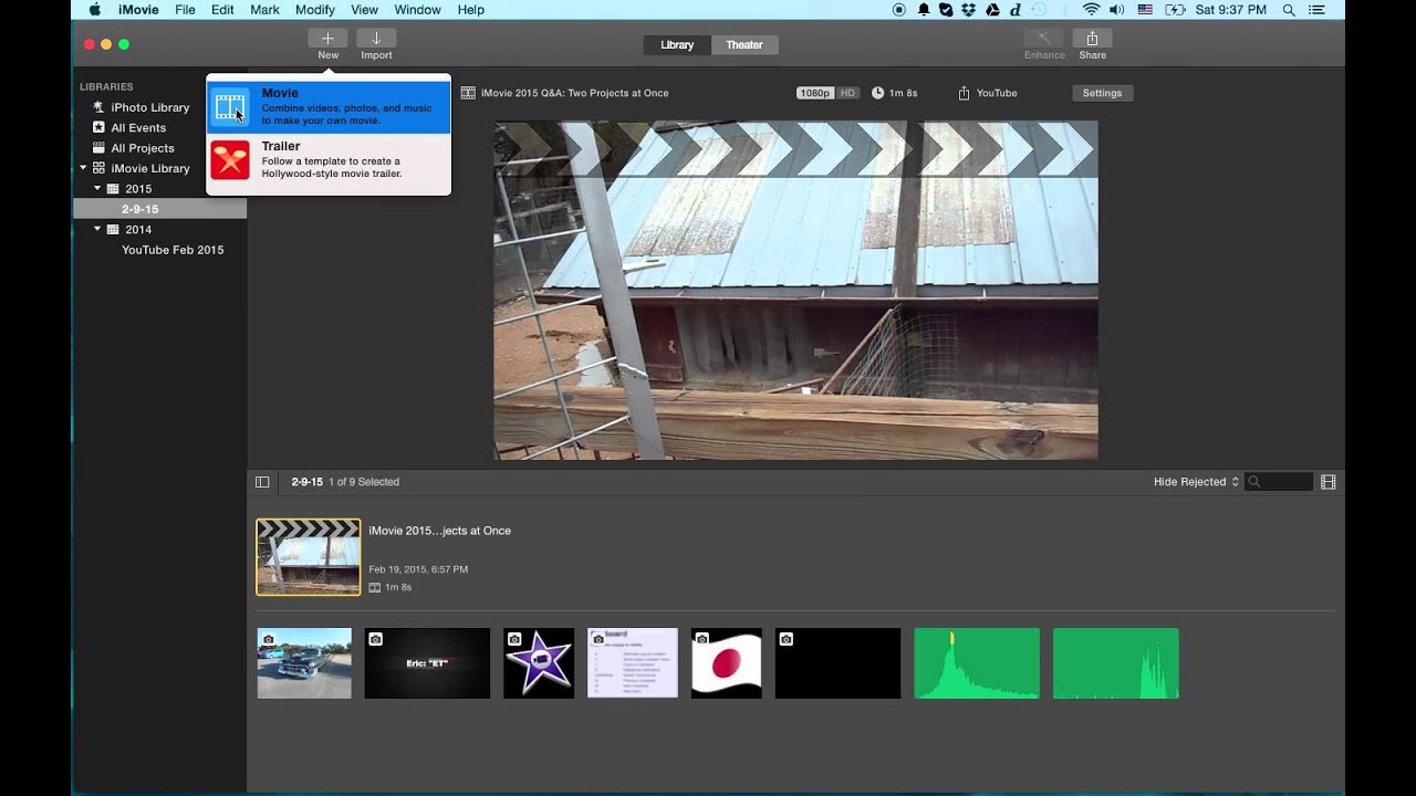iMovie Tutorial 2015 - How To Get The Timeline Back