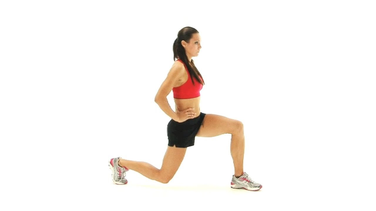 The lunge exercise good for Knee and thigh injuries - YouTube