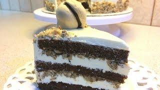 Торт Графские развалины.Как приготовить торт с безе.Cake recipe