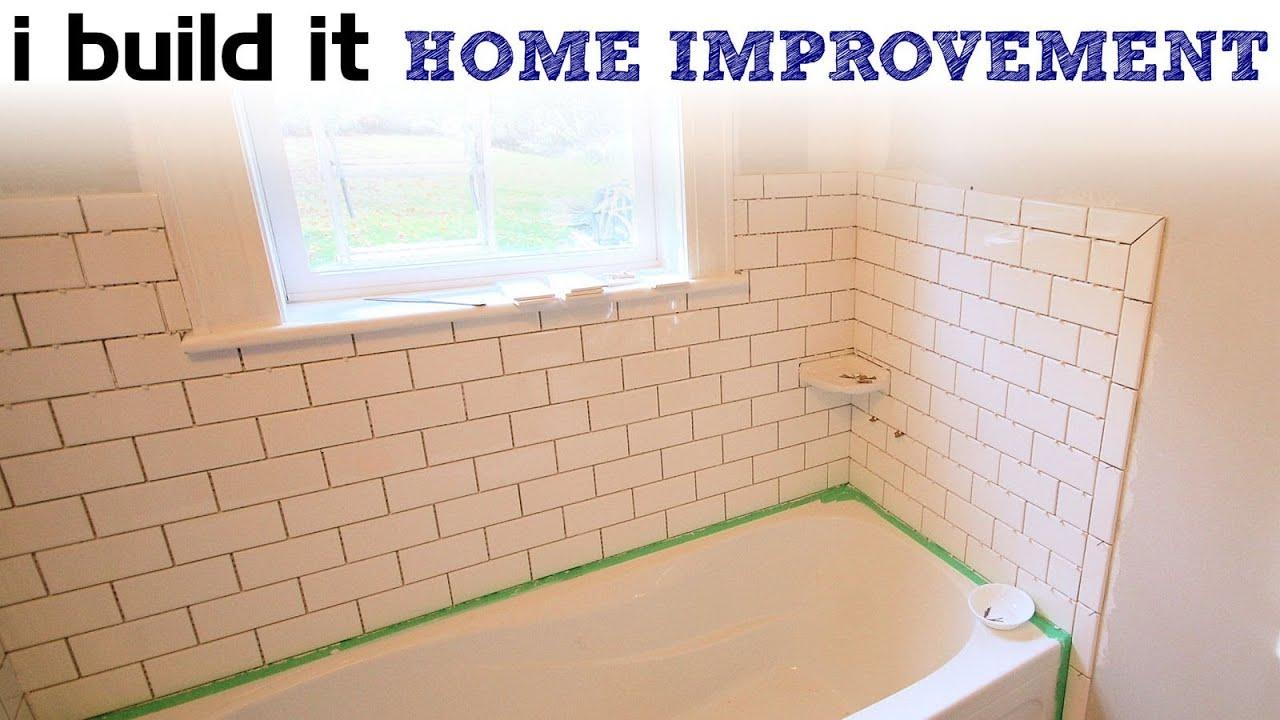 doing ceramic tile around the tub