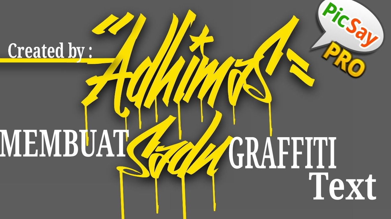Tutorial cara membuat graffiti text di android by dhimas sadu