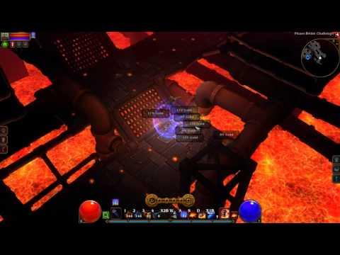 Torchlight 2 Skull/Unique/Gold Farming: Avoid the Lava - Phase Beast Challenge