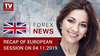 InstaForex tv news: 04.11.2019: EUR and GBP flat ahead of Lagarde's speech (EUR, USD, GBP)
