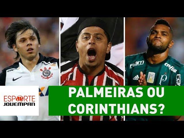 Palmeiras ou Corinthians? Quem são-paulinos preferem campeão?